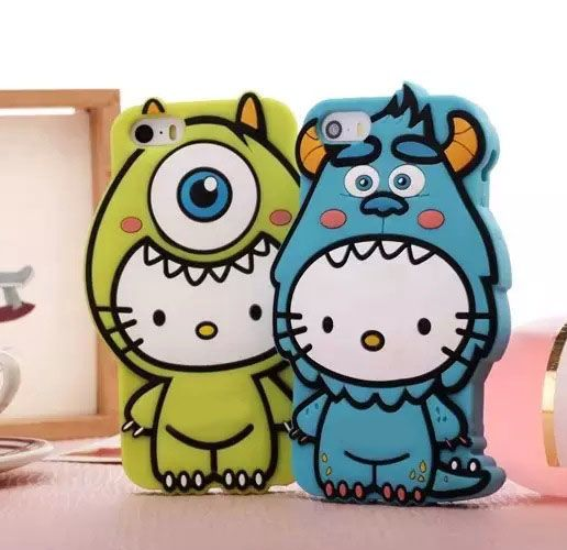 3D cartoon monster cat case for iphone 6 6plus 5G 5S cute lovely soft silicone back cover for iphone 6 5 phone cases