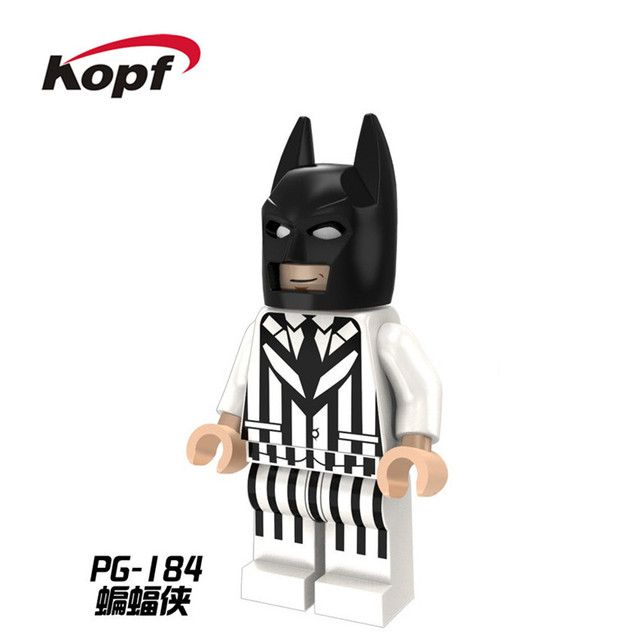 20Pcs PG184 Building Blocks Super Heroes Penguin Rabbit Batman Zebra Suit Justice League Bricks Children Education Gift Toys