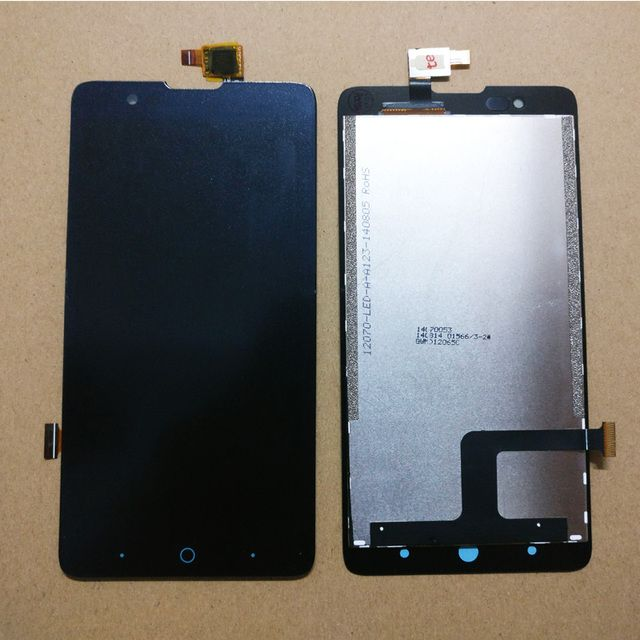 5.0'' Full LCD DIsplay + Touch Screen Digitizer Assembly Replacement For ZTE Blade HN V993W l3 plus ; Black ; New ; RUSSIA