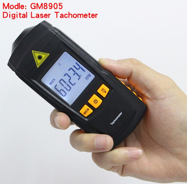 GM8905 LCD Laser Tachometer Non-Contact RPM Tach Test Meter Motor Speed Gauge Handheld free shipping