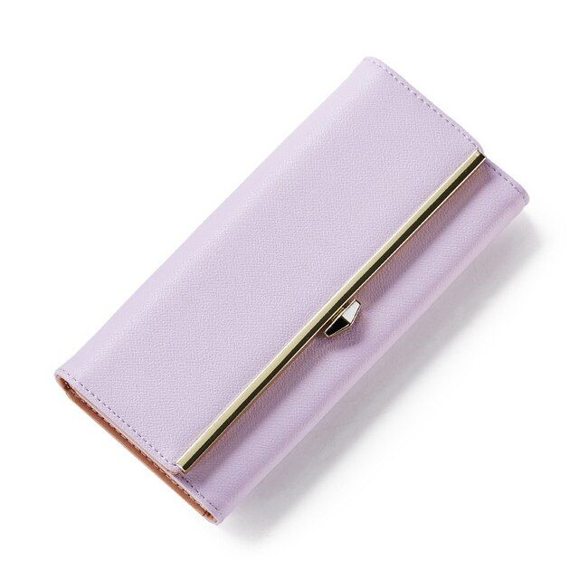 2017 Hot Fashion PU Leather Long Wallets Women Brand Solid Clutch Portable Casual Lady Coin Purse Card Holder Wallet Female