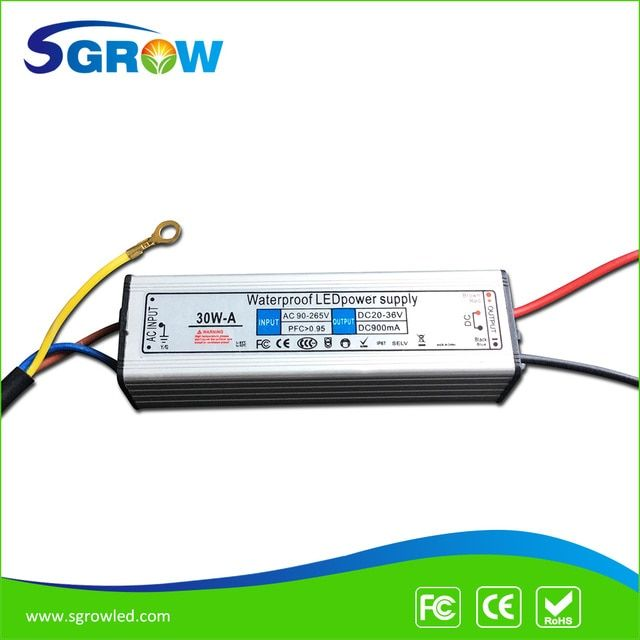 30W led driver , IP67 waterproof  constantc current driver for 30w led chip suit for all the wolrd