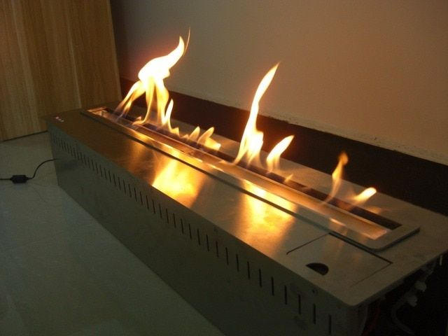 On sale    72'' inch lareira etanol fireplaces with wifi control