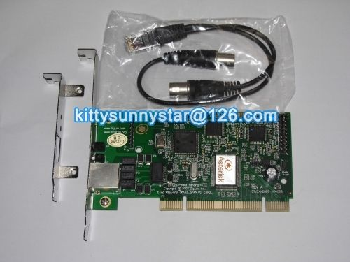 TE122P Single Port T1 Card / E1 card,Supports Asterisk,FreePbx,Elastix,ISDN PRI Card