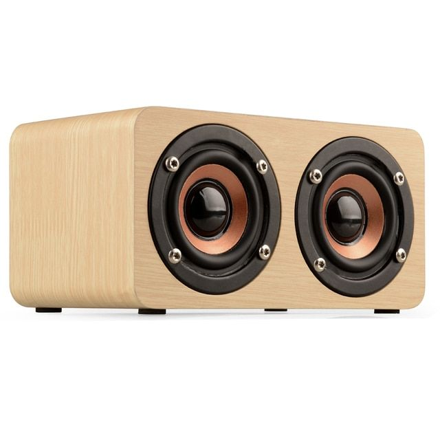 Retro Wooden Bluetooth Speaker with Subwoofer Mini Portable Wireless Speakers TF Card Player Altavoz Bluetooth Loudspeakers