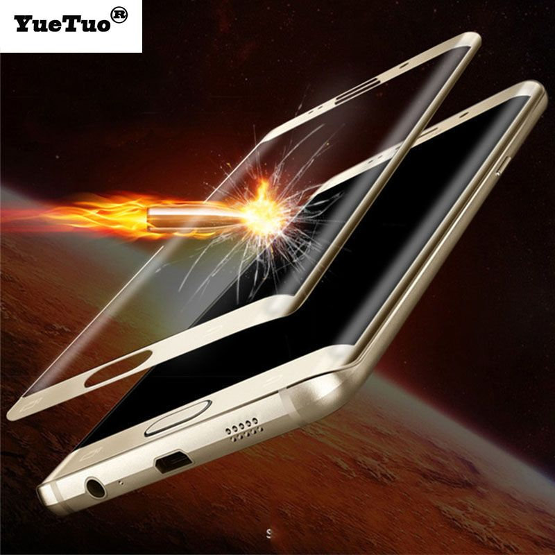YueTuo full 3d curved tempered glass for samsung galaxy s6edge s6 edge g925 9h film front protective screen protector protection