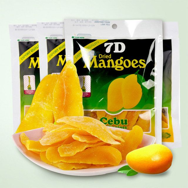 Mango tea instant snack dried fruit food Philippine dried mango snacks 100g free shipping