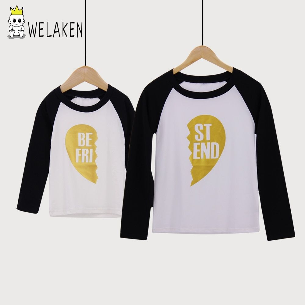 weLaken 2018 Mother Son Outfits Best Friend Family t shirt Mother Daughter Top Tees Comfortable Family Matching Outfits