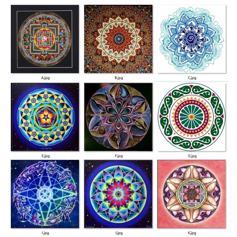 New 5D Diy Diamond Painting Mandala Cross Stitch Full Square Rhinestone Pictures Diamond Embroidery Patchwork Mosaic Needlework
