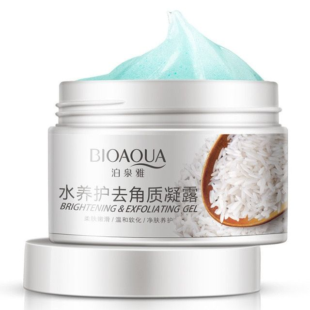 BIOAQUA Facial Cleanser Natural Facial Exfoliator Exfoliating Whitening Brightening Peeling Cream Gel Face Scrub Removal