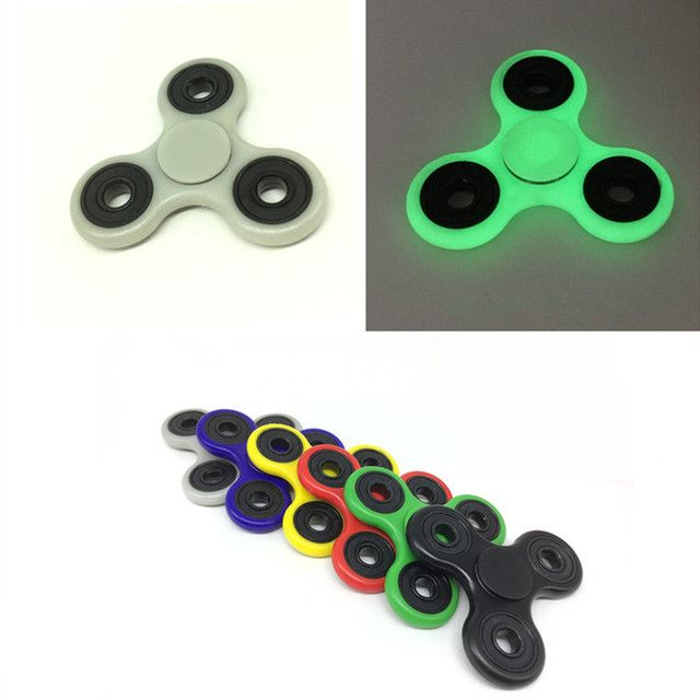 16 Colors Tri-Spinner Fidget Toy Plastic EDC Hand Spinner For Autism and ADHD  Anxiety Stress Relief Focus Toys Kids Gift