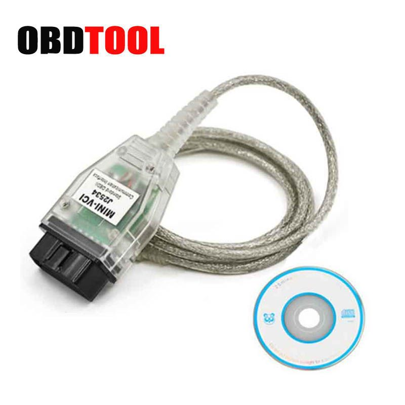 Latest V13.00.022 MINI VCI USB Interface FOR TOYOTA TIS Techstream mini-vci FT232RQ Chip J2534 OBDII OBD2 Diagnostic Tool