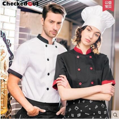 Chef uniform	 2016 Summer Men Chef jackets Working clothes for men Chef Cook uniform