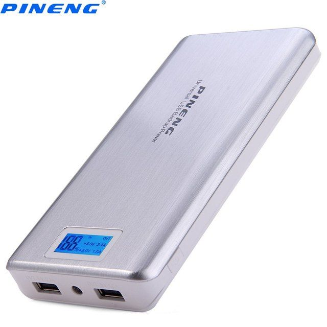 Original PINENG PNW - 999 Dual USB Charging 20000mAh Portable Power Bank External Battery Charger LED Screen For iPhone Samsung