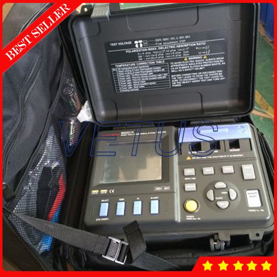 MS5215 Electrical resistivity  measuring instruments with High Voltage Digital Insulation Resistance Tester
