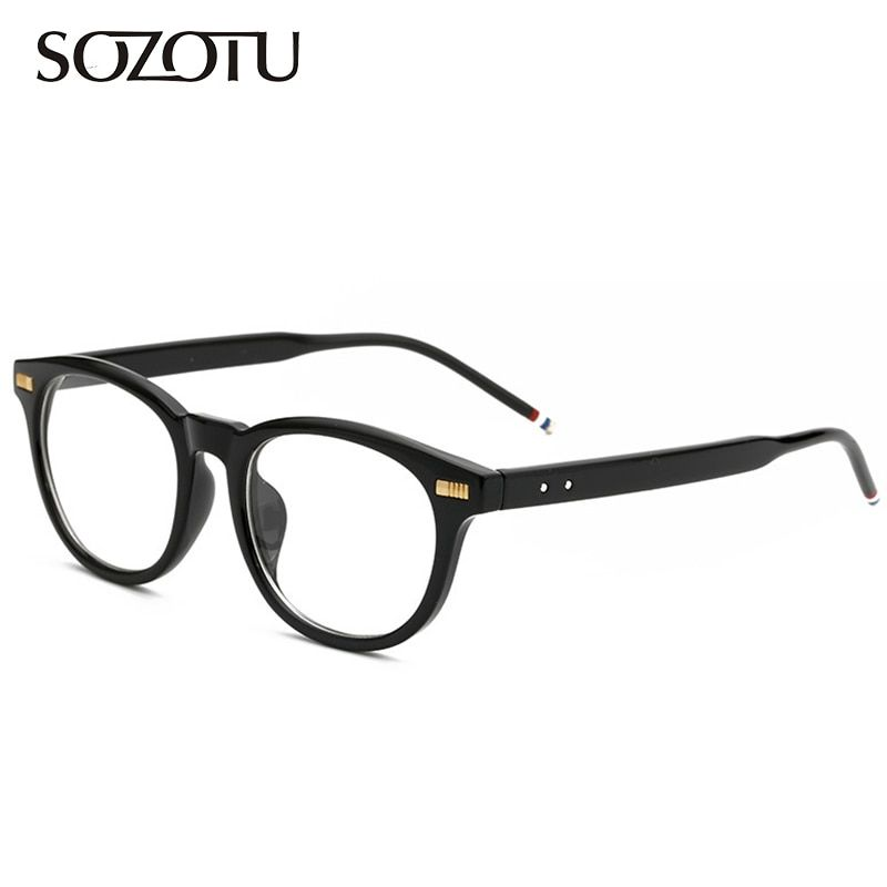 Optical Eyeglasses Frame Men Computer  Glasses Brand Spectacle Frame For Male Transparent Armacao  de YQ137