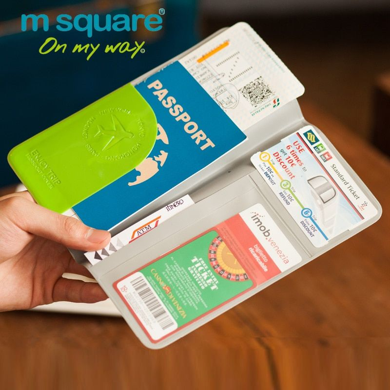 M Square Travel Passport Holder Credit Card Holder Passport Cover Documents Organizer Wallet The Cover Passport