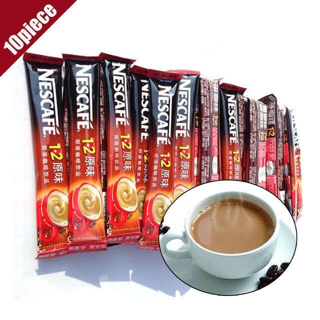 Authentic Instant Coffee 100% Original Real New Mellow Office Snack Foods Top Quality 10 Piece Pouch Packaging Total 150g