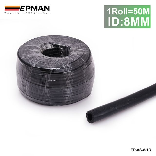 50M ID:8MM Silicone Silicon Vacuum Hose Oil Turbo Dump Radiator Rubber Air Vac Pipe Black For BMW E36 Z3/318i EP-VS-8-1R
