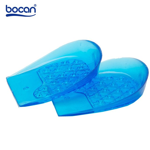 Bocan silicon Gel insoles for heel shoch absorption Light Weight Shoe insoles 2 size for men and women 0841