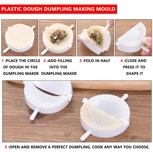 2016 High Quality 3Pcs Plastic Dough Dumpling Pie Ravioli Making Mould Kitchen Practical Tools