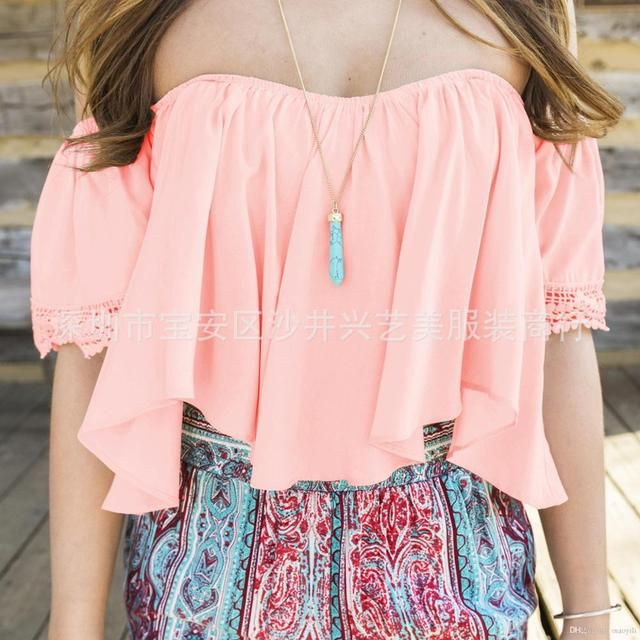 White Black Low Back Peasant Blouse Crop Top Off The Shoulder Ruffled