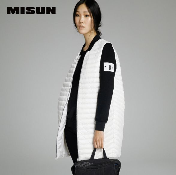 MISUN womens down jackets 2018 white womens baseball uniform wide-waisted zip patchwork long-sleeve ultra thin duck down coat