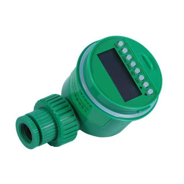 Automatic Digital LCD EECOO Electronic Irrigation Timer Home Water Timer Plastic Garden Irrigation Controller Watering Programs
