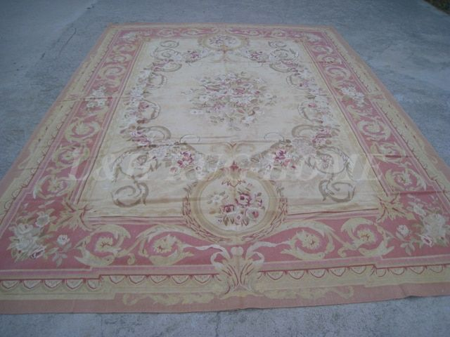 Free shipping  9'x12'  French Aubusson woolen rug, French Aubusson Carpet for Home Decoration, 2015 New Design