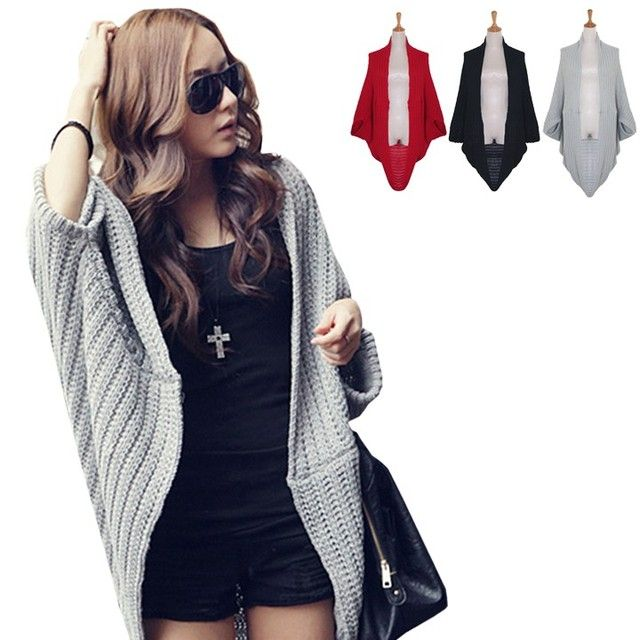Hot Drop Shipping Korean classic Winter batwing sweater knit cardigan female coat big size yards long loose Sweater 51 Worldwide