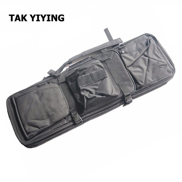 TAK YIYING Airsoft Tactical 85CM Dual Rifle Bag with Shoulder Strap M4 Series High Density Nylon Hunting Gun Bag Case