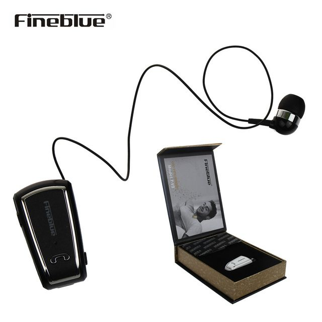 Fineblue F-V3 Business Bluetooth Headset Mini Wireless Driver Auriculares Stereo Retractable Clip Audifonos Earphone with micro