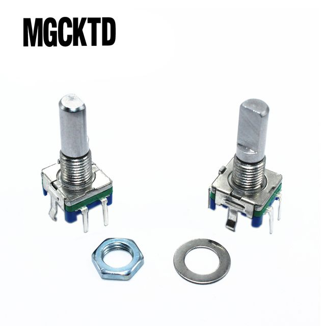 Rotary encoder,code switch/EC11/ audio digital potentiometer,with switch,5Pin, handle length 20mm