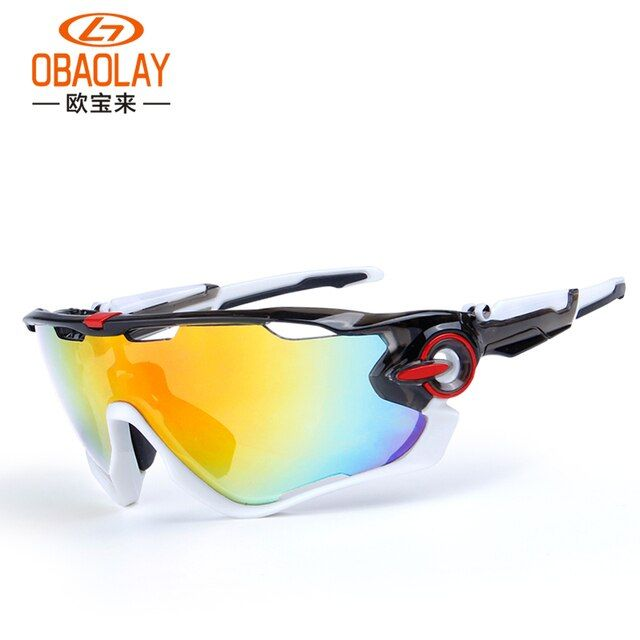 Obaolay Polarized Cycling Glasses 5 Group Lens Mans Mountain Bike Goggles Sport MTB Bicycle Sunglasses Ciclismo Cycling Glasses