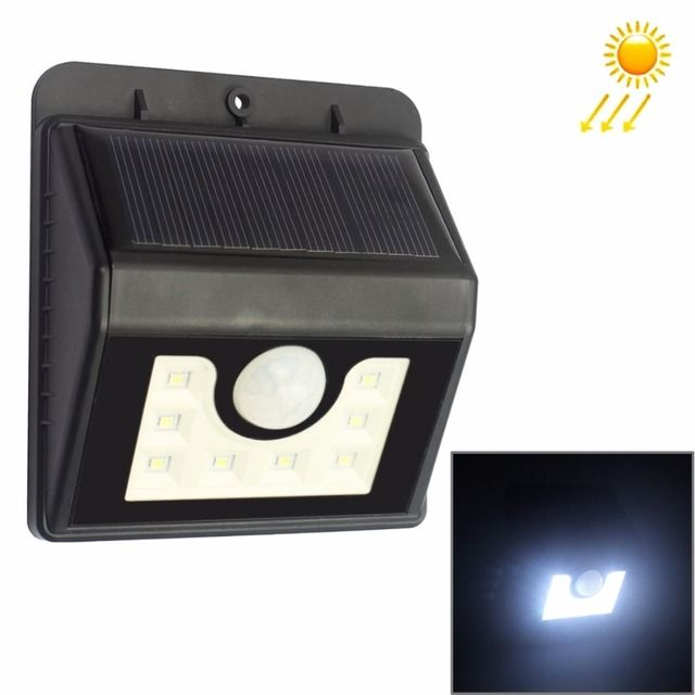 LED Solar Lamp Motion Sensor Garden Light 6 LEDs Saving Energy Wall Lamp Led Bulbs Spotlight Outdoor Path Street Lamp Lighting