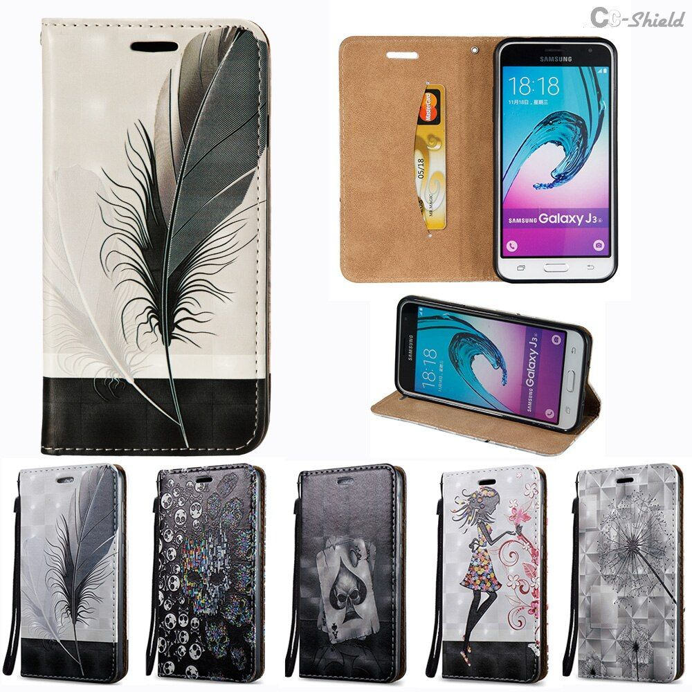 3D Flip Case for Samsung Galaxy J3 2016 J 3 320 Case SM-J320fn SM-J320F/ds SM-J320F SM-J320h/ds SM-J320m/ds Phone Leather Cover