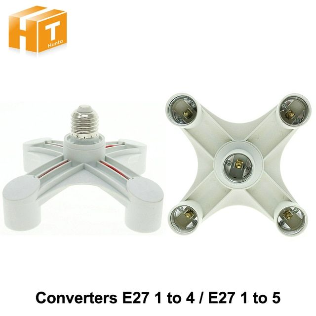 Lamp Holder Converters E27 1 to 4 / 1 to 5 Lamp Base for AC 110-240V 4 / 5 Bulbs.