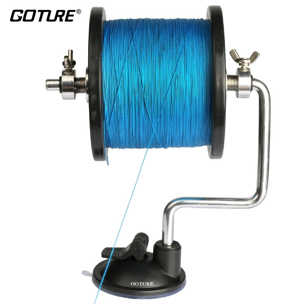 Goture Fishing Line Reel Spool Spooler System Tackle Silver Aluminum Exclusive Design Line Bobbin/Spool Winder Winding Device