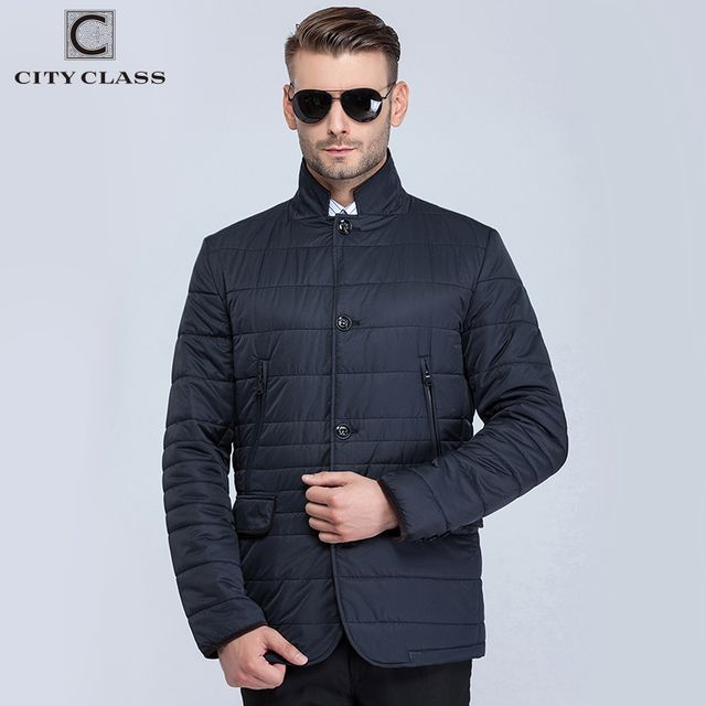 City Class 2016 new mens spring autumn quilted jackets corduroy collar bussiness style fashion casual slim outwear for male16031