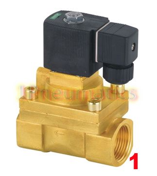 Free Shipping Brass 1'' High Pressure Steam Solenoid Valve 2/2 Way Burk Equivalent 5404-08 PTFE Valve