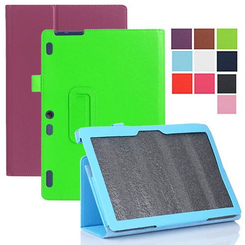 "PU Magnetic Folio Folding Stand Leather Case Cover For Lenovo Tab 2 A10-30 TB2-X30F TB2-X30L 10.1"" inch Tablet PC"