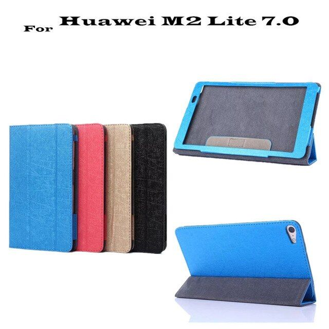 M2 Lite PLE-703L Ultra thin Filp leather Case cover For Huawei MediaPad T2 7.0 Tablet Cover