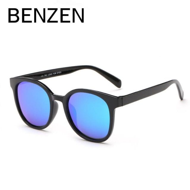 BENZEN Polarized Sunglasses Women Vintage TR Female Sun Glasses Ladies Shades Driving Glasses Accessories Black With Case 6193