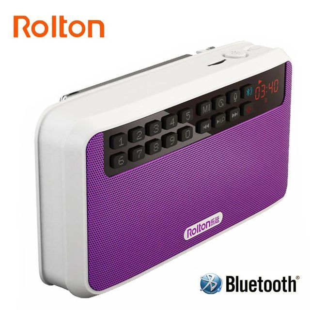 Rolton E500 Portable Stereo Bluetooth Speakers FM Radio Clear Bass Dual Track Speaker TF Card USB Music Player LED Flashlight
