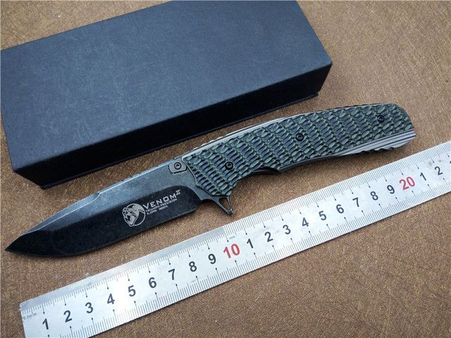KESIWO KS014 D2 blade folding tactical knife G10  handle quality outdoor hand tool EDC ball bearing Flipper pocket knife