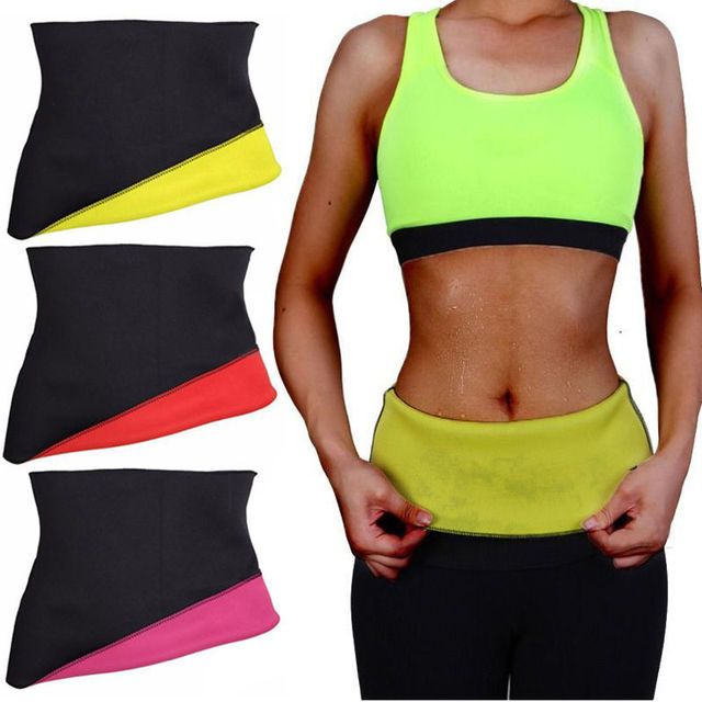 NEFUTRY Sweat Hot Neoprene Shapers Waist Belt Weight Loss Waist Cincher Trainer Slimming Trimmer Fitness Hot Belt
