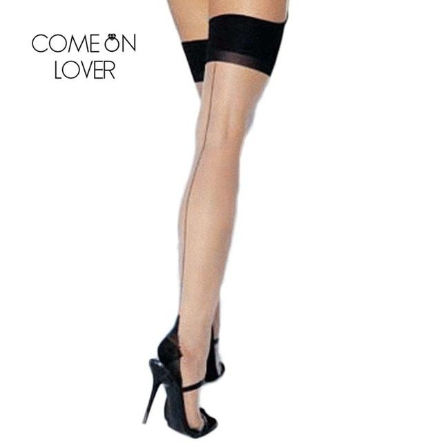I2056 Drop shipping New Arrival Sexy Stocking High Quality Leg Wear See Through Black Seam Hot Sale Knee High Women Stocks