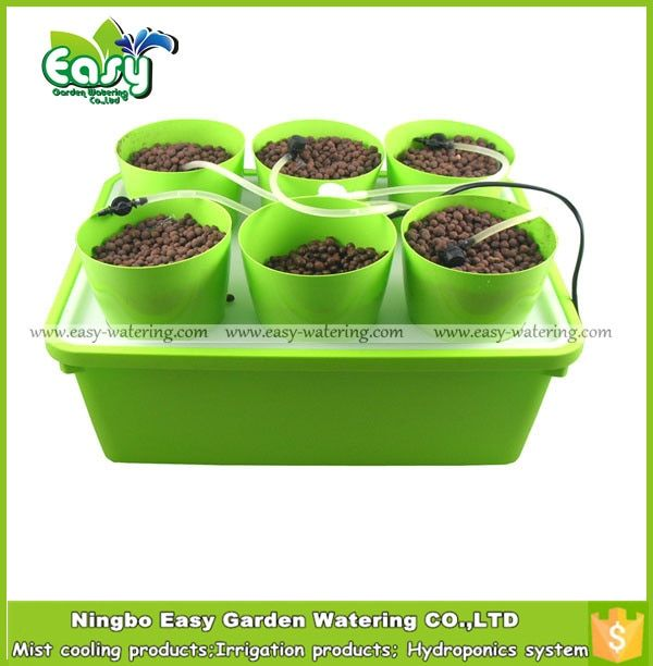 (11L)Drip irrigation system for Hydroponics system with 6 site of basket cup. Cloner bucket. .Free shipping