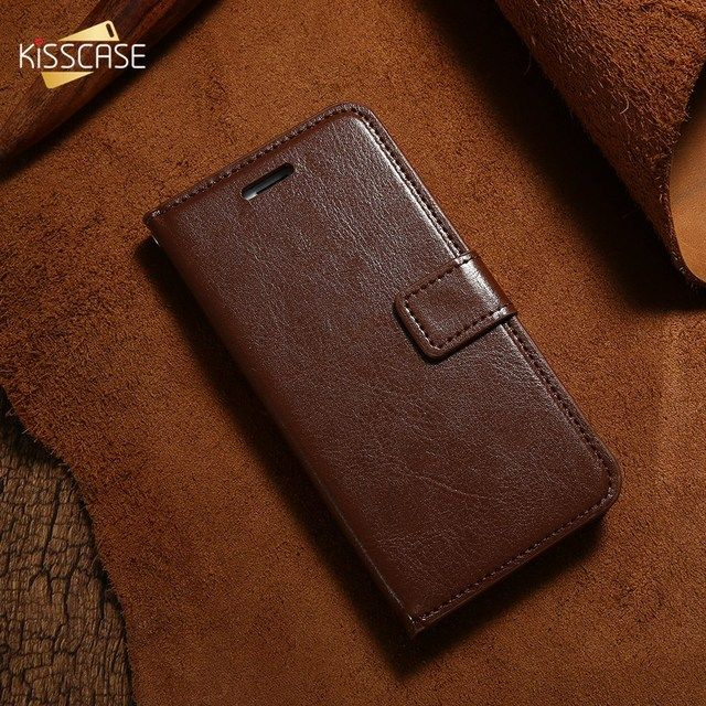 KISSCASE Flip Phone Case For iPhone 6 6S Plus Cover Leather Wallet Phone bag case For iPhone 7 8 Card Slot Stand Magnetic Cover