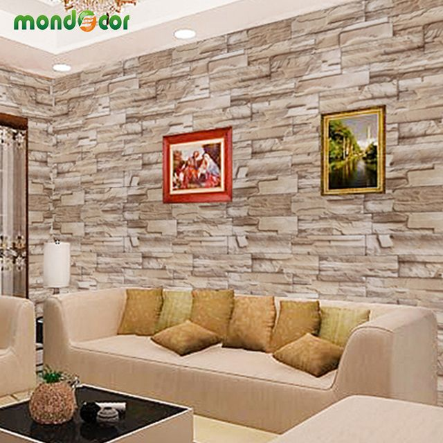 0.4mX10m Home Decor wall decals PVC vinyl Brick waterproof Wall stickers for Living Room Kitchen self adhesive Wallpaper Roll